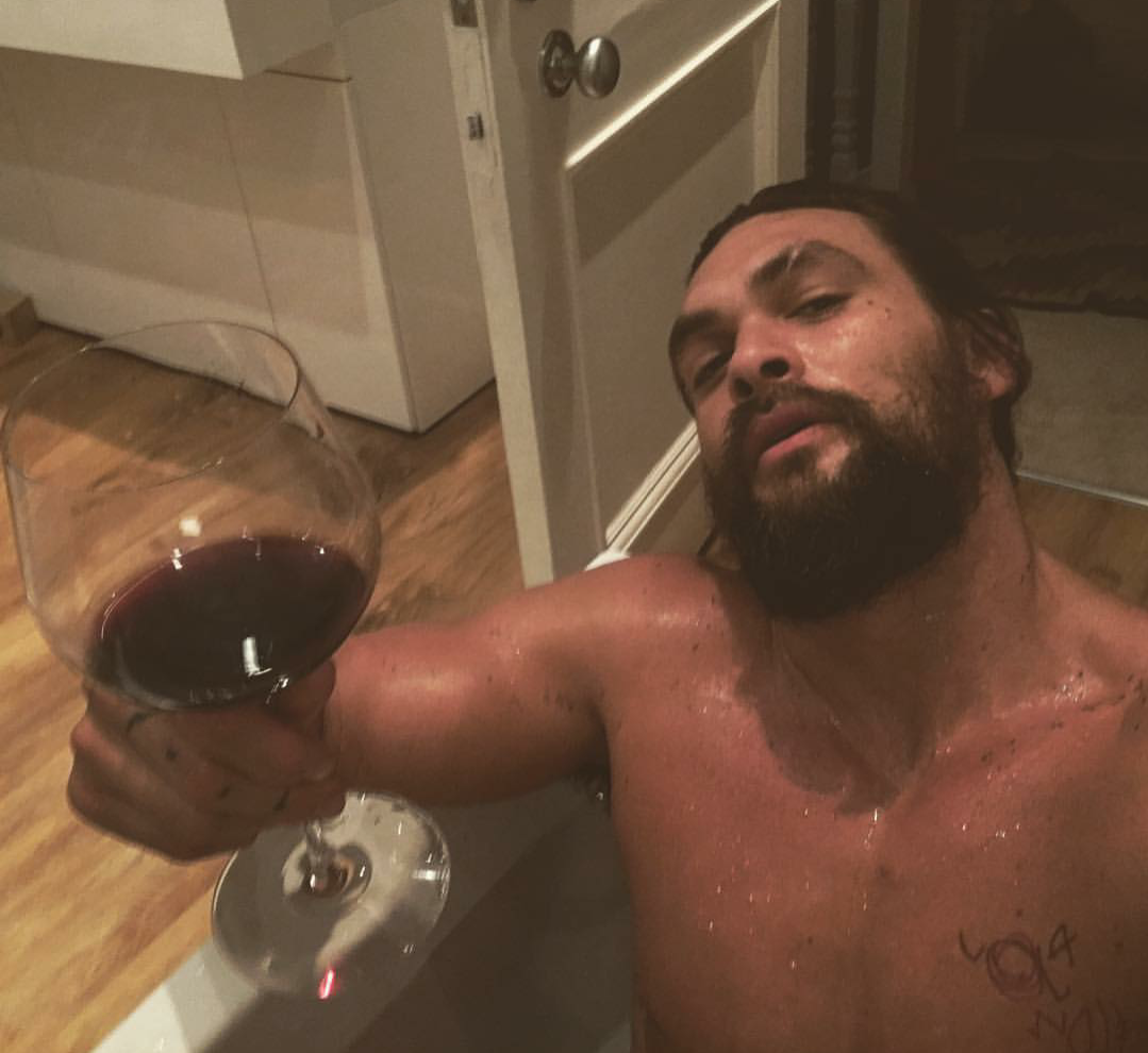 Tag: My Literal Greatest Fantasy. Jason Momoa In A Bathtub Shoving Booze In  My Face.
